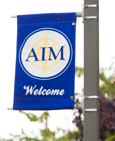 AIM Welcome Banner